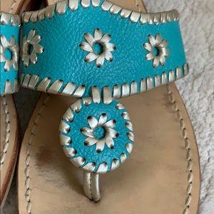 Jack Rogers Shoes - Jack Rogers Turquoise Hampton Sandals Size 9